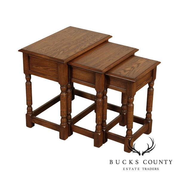 Pennsylvania House Jacobean Style Nesting Tables