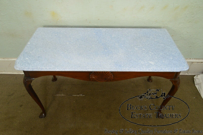 Kittinger Colonial Williamsburg CW155 Mahogany Marble Top Mixing Table Console