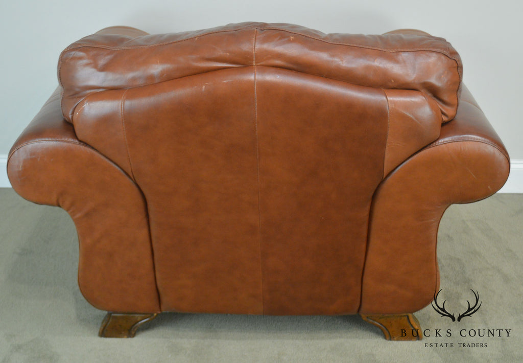 Divani chateau d 39 ax italian brown leather lounge chair for Divani chateau d ax offerte