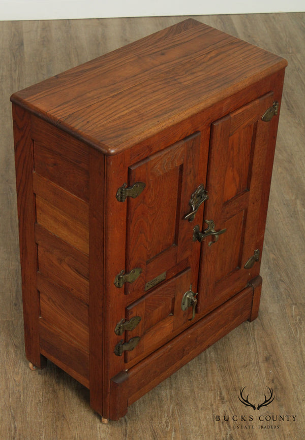 Gibson Palace Antique Oak Refrigerator Ice Box