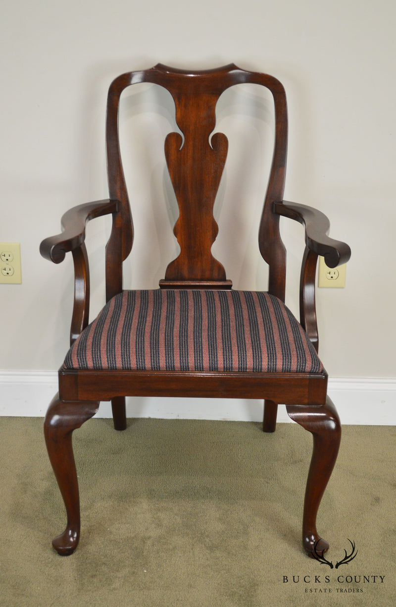 Henkel Harris Solid Mahogany Queen Anne Arm Chair  110A