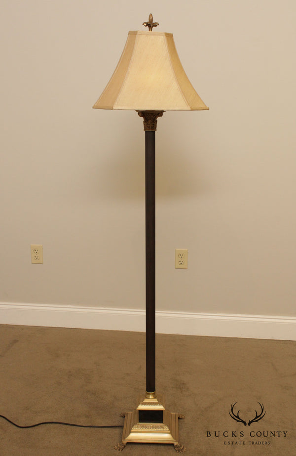 Wildwood Accents Regency Style Brass Column Floor Lamp