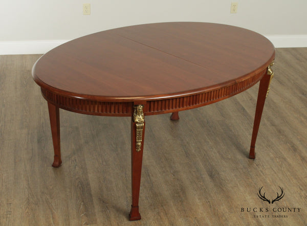 Harden French Empire Style Oval Cherry Expandable Dining Table