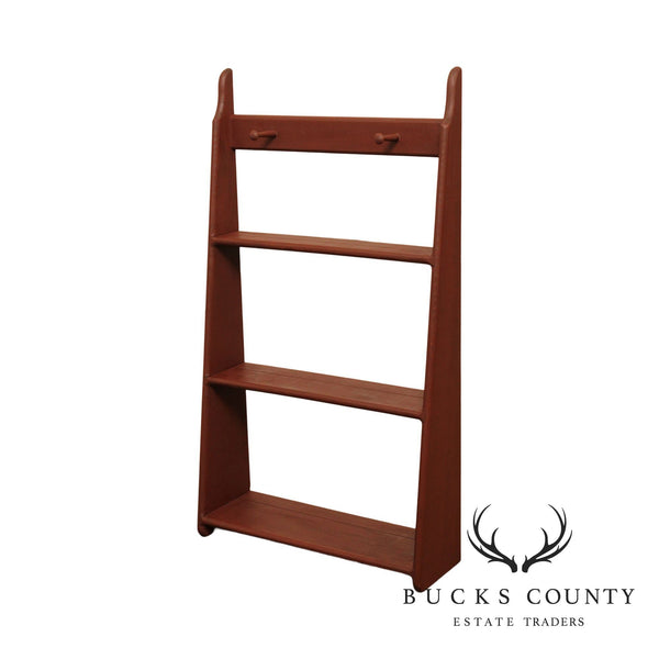 Country Style Three Tier Wall Shelf