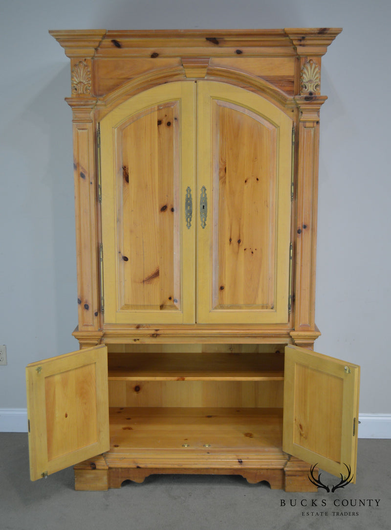 Link Taylor Solid Pine Bar Armoire Liquor Cabinet