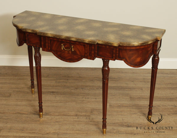 Maitland Smith French Louis XVI Style Mahogany Console Table