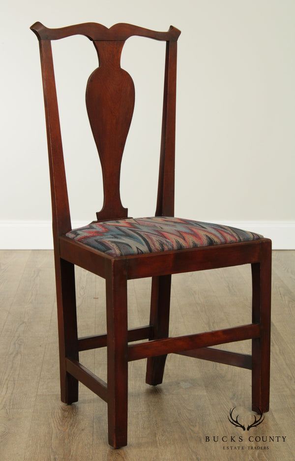 Chippendale Style Antique 19th Century Mahogany Side Chair