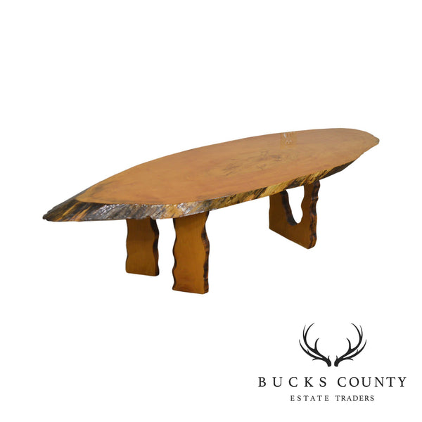 Live Edge Free Form Slab Wood Rustic Studio Crafted Coffee Table