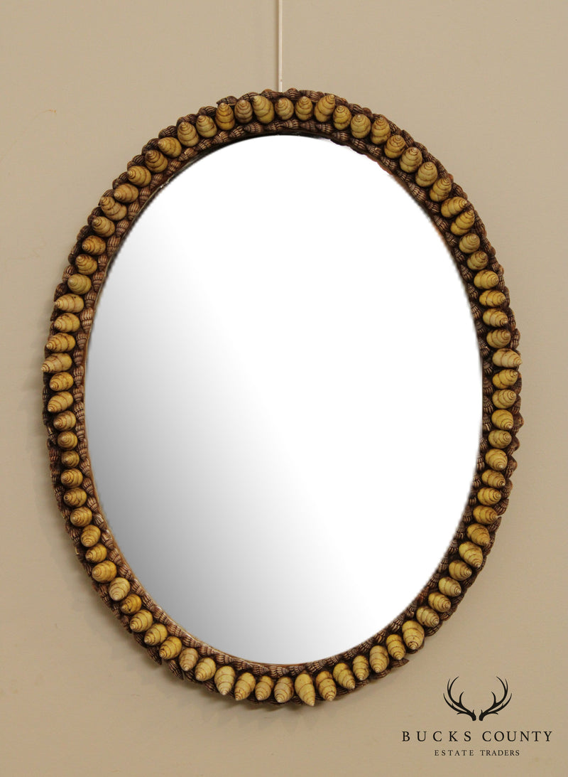 Anthony Redmile Shell Art Oval Wall Mirror