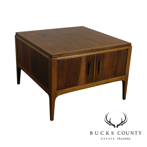 Lane Mid Century Modern Walnut 2 Door Storage Coffee Table