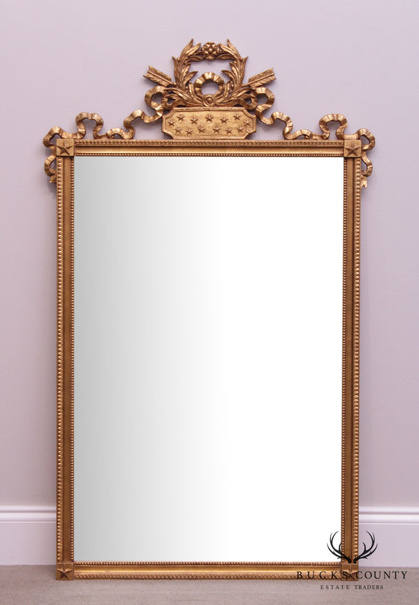 Friedman Brothers Vintage French Louis XVI Style Gilt Wall Mirror