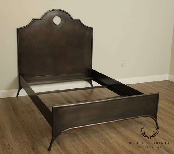 Restoration Hardware 19th C. Keyhole Arch Metal Full Bed