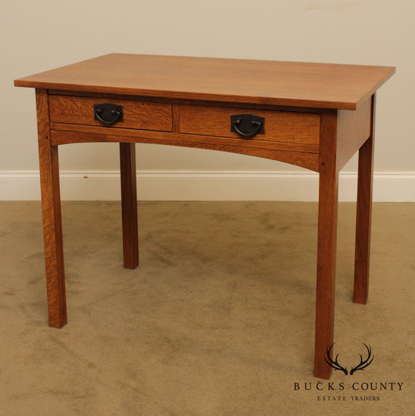 Stickley Mission Collection Oak 2 Drawer Writing Desk