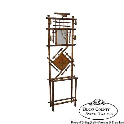Antique Victorian Bamboo Hall Stand