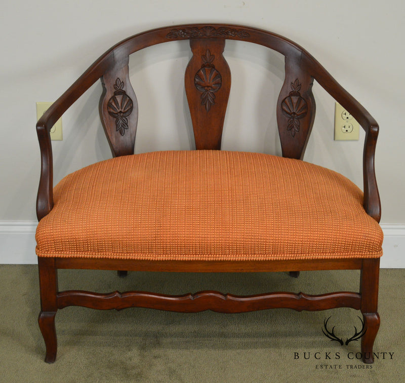 Martin Industries Vintage Custom Italian Style Curved Small Settee Low Club Chair
