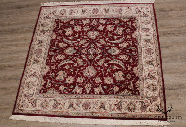 High Quality Red & Ivory Square Persian Room Size Rug