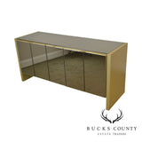 Ello 1970's Tinted Mirror Five Door Credenza Sideboard
