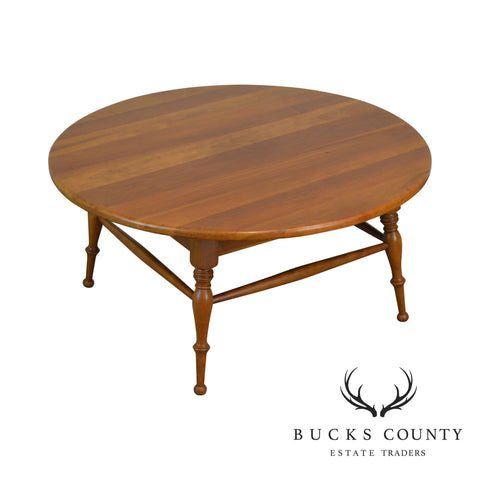 "Traditional Solid Cherry Vintage 34"" Round Revolving Top Coffee Table"