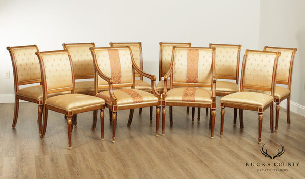 French Louis XVI Style Custom Quality Set 10 Dining Chairs
