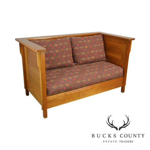 Mission Style Studio Hand Crafted Cherry & Walnut Prairie Settee