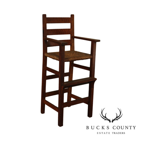 Gustav Stickley Antique Mission Oak High Chair