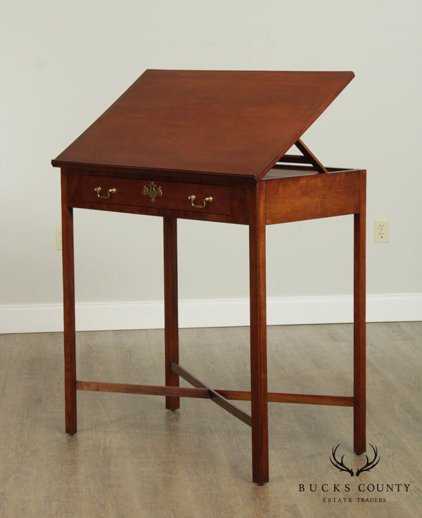Chippendale Style Antique Cherry Architects Desk, Drawing Table