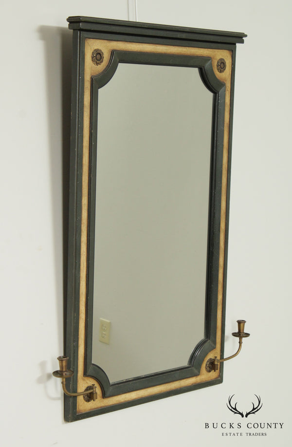 Quality French Directoire Style Wall Mirror with Candle Holders