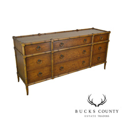 Heritage Grand Tour Vintage Faux Bamboo Long Dresser