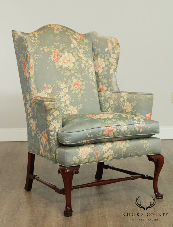 Southwood Vintage Mahogany Queen Anne Wing Chair