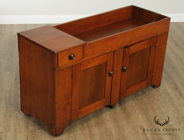 Antique 19th Century 60 inch Primitive Pine Dry Sink