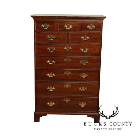 Stickley Chippendale Style Renaissance Cherry Tall Chest