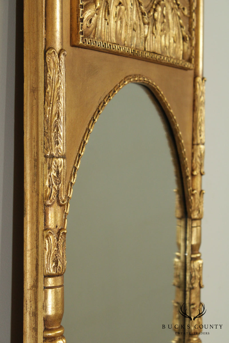 Friedman Brothers Regency Style 84 inch Tall Gilt Lion Carved Mirror