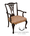 Georgian Style 1930's Mahogany Carved Armchair