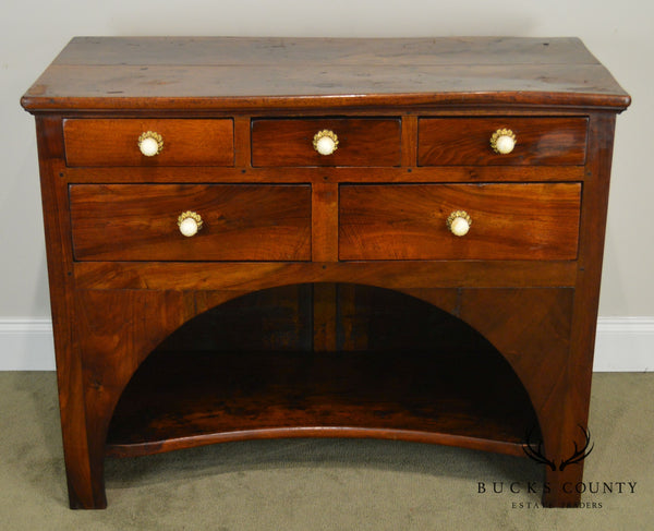 French Art Nouveau Antique Walnut Server Chest