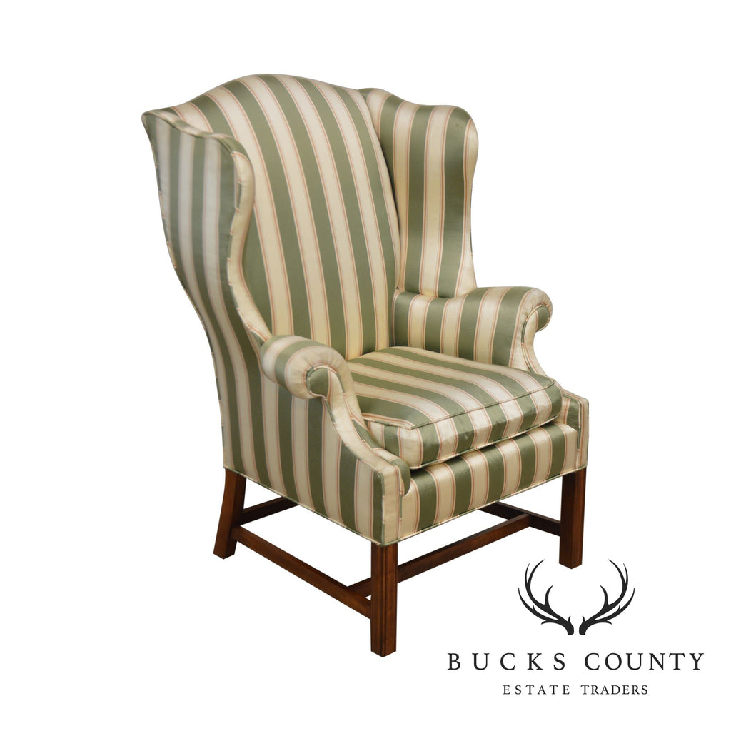 Groovy Baker Vintage Chippendale Style Wing Chair Bucks County Theyellowbook Wood Chair Design Ideas Theyellowbookinfo