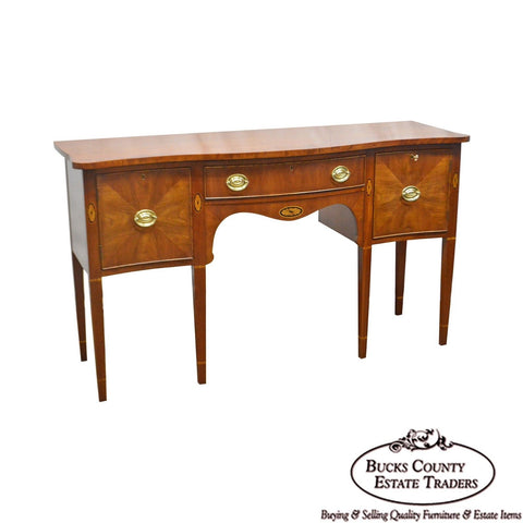 Statton Cherry Federal Style Serpentine Inlaid Sideboard