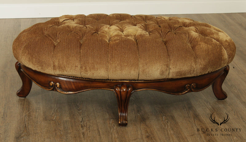 Schandig Compositions Oval Tufted Coctail Ottoman
