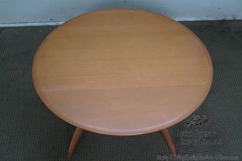 Heywood Wakefield Champagne Mid Century Modern Revolving Maple Coffee Table