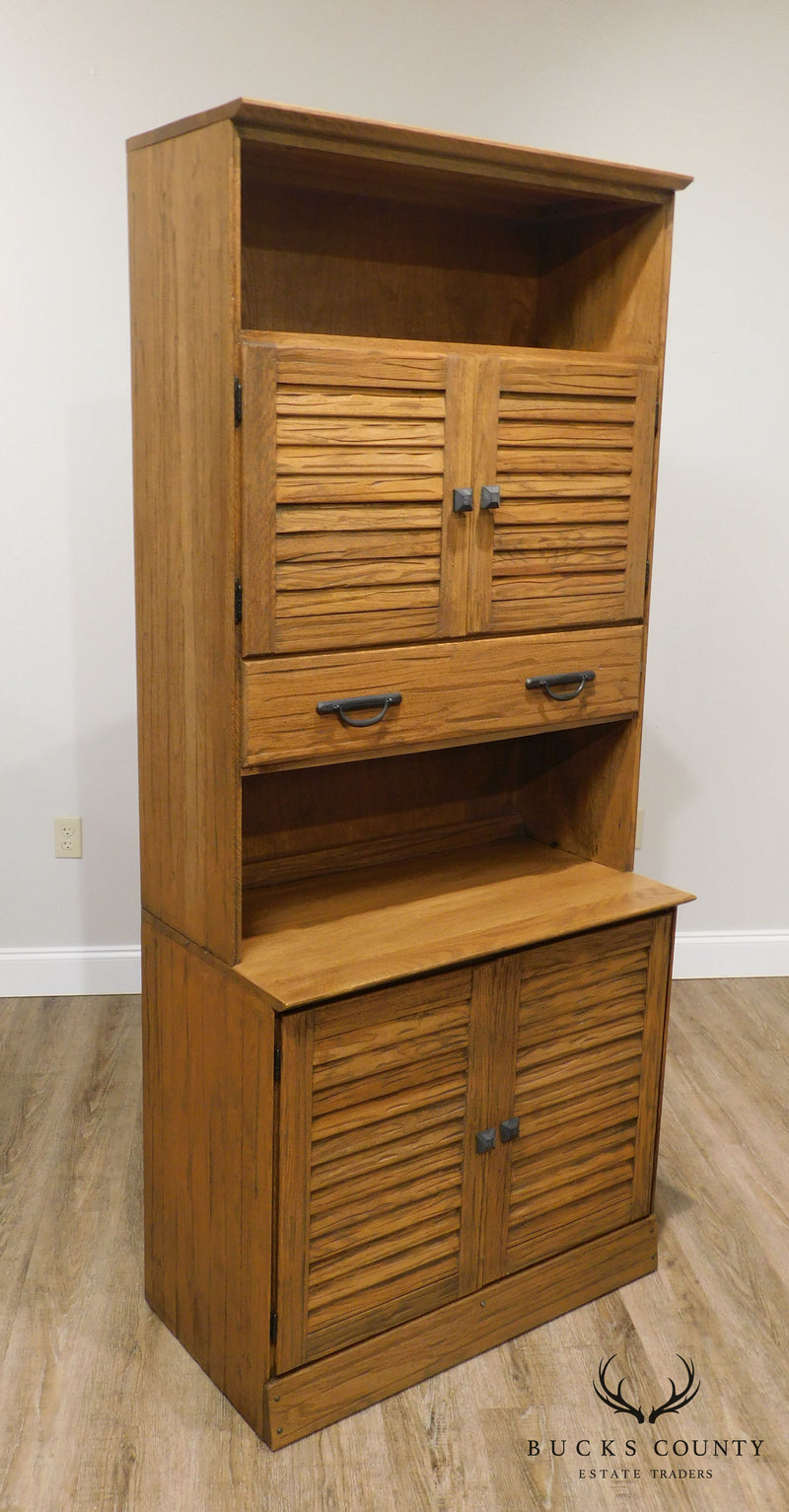 Brandt Ranch Oak Vintage 2 Piece Cabinet with Louvered Doors