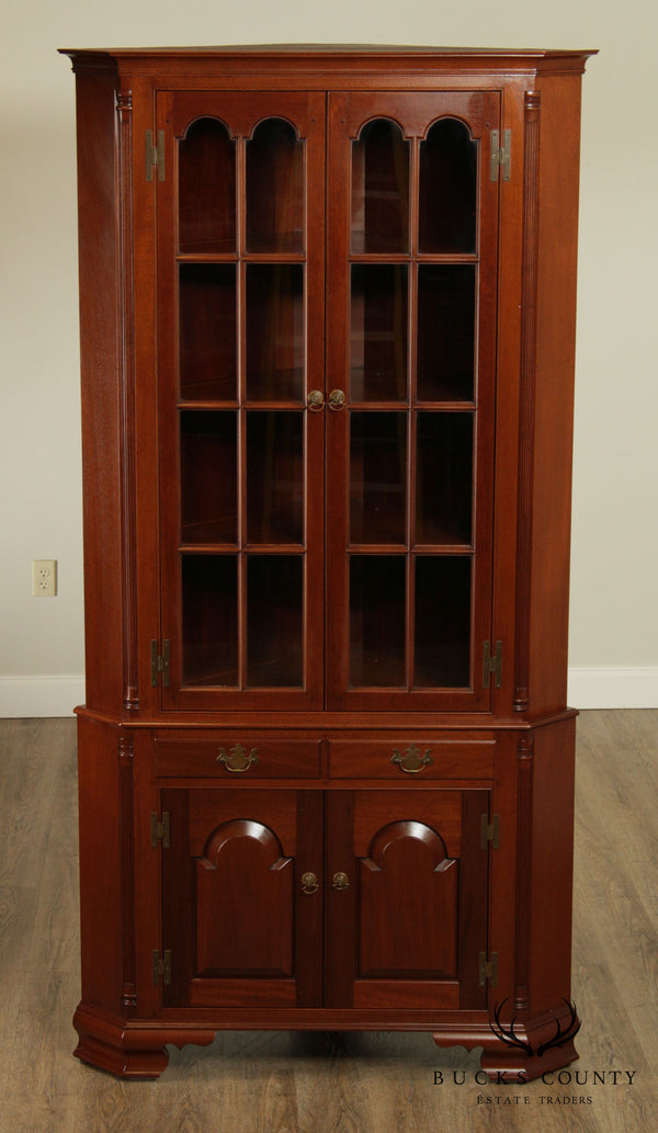 Robert T Hogg Hand Made Solid Mahogany Queen Anne Corner Cabinet
