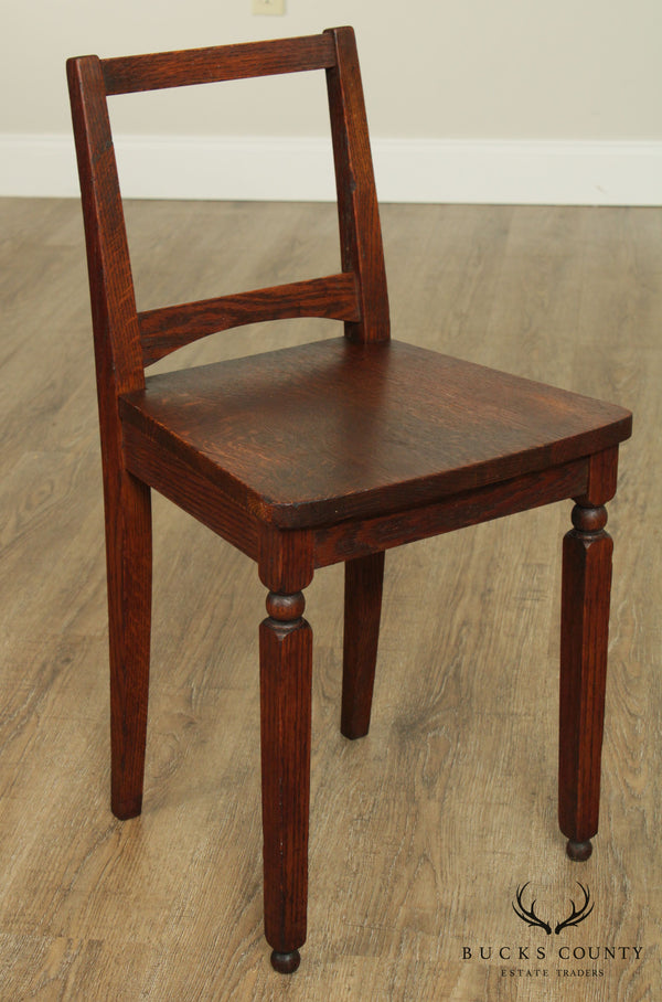 Antique Mission Oak Small Vanity Side Chair