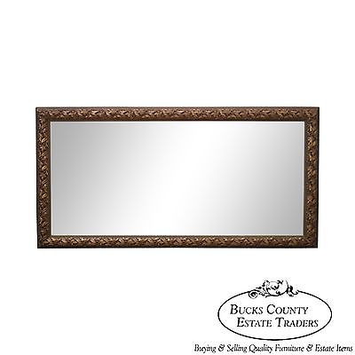 Quality French Louis XV Style Carved Gold Frame Rectangle Beveled Mirror