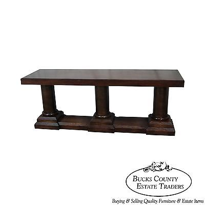 Trouvailles Large Triple Column Base Console Table