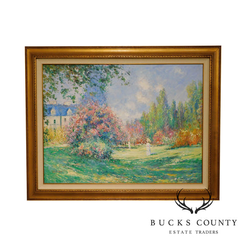 Impressionist Framed Landscape Painting Oil or Acrylic on Canvas Custom Frame