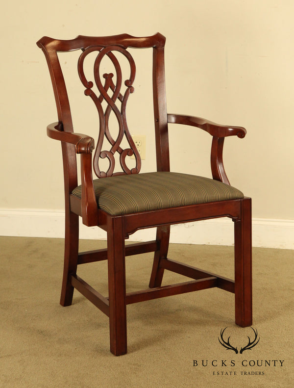 Bernhardt Chippendale Style Mahogany Armchair (B)