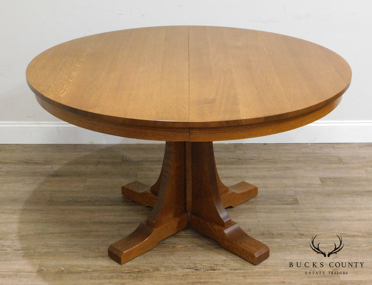 Stickley Mission Collection Oak Expendable 52 Quot Round