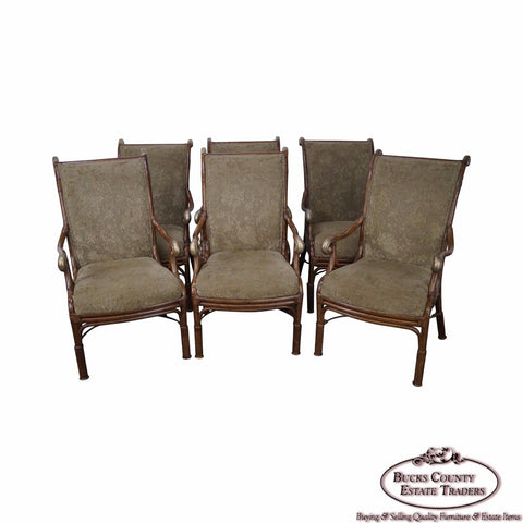 Acacia Home & Garden Set of 6 Rattan Dining Arm Chairs