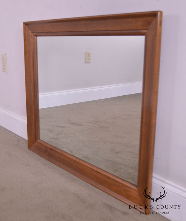 Ethan Allen Vintage Maple Rectangular Wall Mirror
