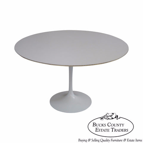 "Knoll 48"" Round Tulip Pedestal Dining Table by Saarinen"