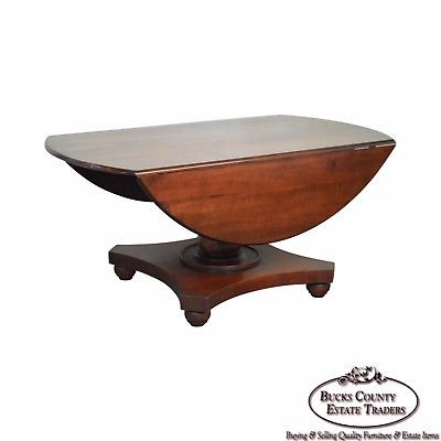 Polo Ralph Lauren Large Pedestal Drop Side Cherry Dining Table